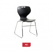 Bristol Maid Mata Chair Red Sled Base Waiting Room Seating