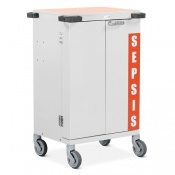 Bristol Maid Double-Door Sepsis Trolley with Six Drawers and Bolt Lock