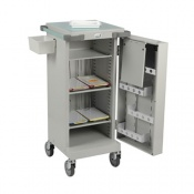 Bristol Maid Blister Packed Monitored Dosage System Trolley with Single Door, Three Shelves and Bolt Lock