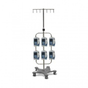 Bristol Maid High Capacity Six Hook Infusion Pump Stand