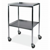 Bristol Maid Stainless Steel Dressing Trolley with 450 x 600mm Fixed Shelves, Raised Sides