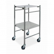 Bristol Maid Stainless Steel Dressing Trolley with 450 x 450mm Removable Shelves