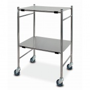 Bristol Maid Stainless Steel Dressing Trolley with 450 x 600mm Removable Shelves
