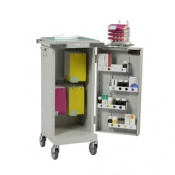 Bristol Maid Blister Packed Monitored Dosage System Trolley with Single Door, Hanging Panel and Bolt Lock