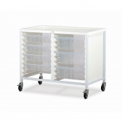 Bristol Maid Double-Column Low-Level Tray Trolley with 4 x 100mm and 3 x 160mm Trays