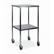 Bristol Maid Stainless Steel Dressing Trolley with 450 x 450mm Fixed Shelves