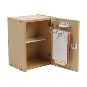 Bristol Maid Small Wooden Patient Self Administration Cabinet with CAM Lock