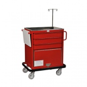 Bristol Maid Emergency Equipment Trolley 3 x 96mm Deep Drawers with Lower Cupboard