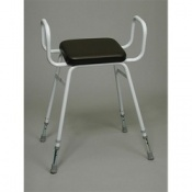 Fixed Frame Percher Stool With Armrests