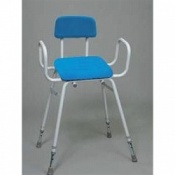 Perching Stool With Polyurethane Padded Seat and Back
