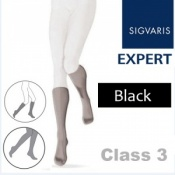 Sigvaris Expert for Women Calf Class 3 Black Compression Stockings