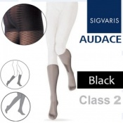 Sigvaris Audace Calf Class 2 Black Compression Stockings