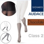 Sigvaris Audace Calf Class 2 Chocolate Compression Stockings