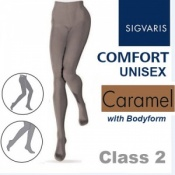 Sigvaris Unisex Comfort Class 2 (RAL) Caramel Compression Bodyform Tights