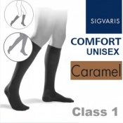 Sigvaris Unisex Comfort Calf Class 1 (RAL) Caramel Compression Stockings