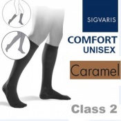 Sigvaris Unisex Comfort Calf Class 2 (RAL) Caramel Compression Stockings