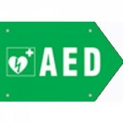 CardiAid AED Double Sided Direction Sign