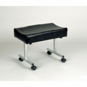 Adjustable Height Footstool with Castors