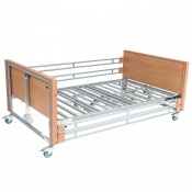 Casa Med Bariatric Beech Low Profiling Bed with Side Rails