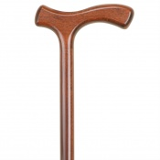 Economy Brown Crutch Handle Wooden Walking Stick