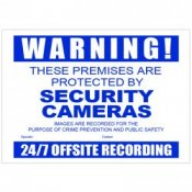 Watchguard CCTV Security Camera Warning Sign
