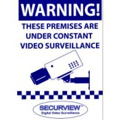 CCTV Security Camera Warning Sign