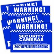 Watchguard CCTV Security Camera Warning Stickers Pack of 4