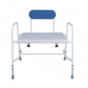 Cefndy Super Bariatric Adjustable Height Shower Stool with Back Support