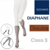 Sigvaris Diaphane Calf Class 3 Chocolate Compression Stockings