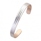 Sabona Classic Copper and Silver Bracelet 7mm Width