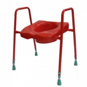 Coloured Toilet Frame with Seat