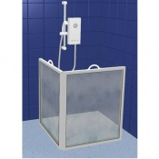 Contour Extra Height Two Panel Carerscreen Shower Screen