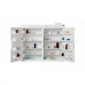 Controlled Drug Cabinet with 8 Shelves and 8 Trays and 2 Doors