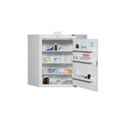 Controlled Drug Cabinet Corner Design with 3 Shelves