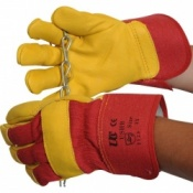 Cow Hide Rigger Handling Gloves