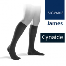 Sigvaris James Calf Compression Socks - Navy