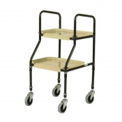 Days Adjustable Height Plastic Shelf Trolley