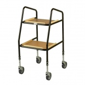 Days Adjustable Height Wooden Shelf Trolley