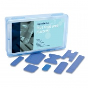 Dependaplast Blue Assorted Plasters in Box (Pack of 120)