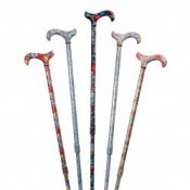 Derby Tea Party Extending Patterned Cane