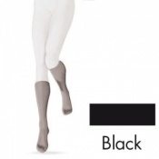 Sigvaris Diaphane Calf 15-21 mmHg Black Open Toe Compression Stockings