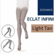 Sigvaris Eclat Infini Thigh Compression Stockings - Light Tan