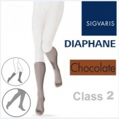 Sigvaris Diaphane Calf Class 2 Chocolate Compression Stockings