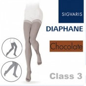 Sigvaris Diaphane Thigh Class 3 Chocolate Compression Stockings