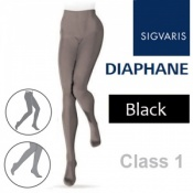 Sigvaris Diaphane Class 1 Black Compression Tights