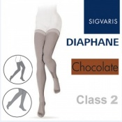 Sigvaris Diaphane Thigh Class 2 Chocolate Compression Stockings