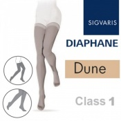 Sigvaris Diaphane Thigh Class 1 Dune Compression Stockings