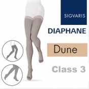 Sigvaris Diaphane Thigh Class 3 Dune Compression Stockings