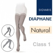 Sigvaris Diaphane Thigh Class 1 Natural Compression Stockings
