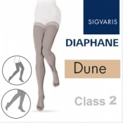 Sigvaris Diaphane Thigh Class 2 Dune Compression Stockings